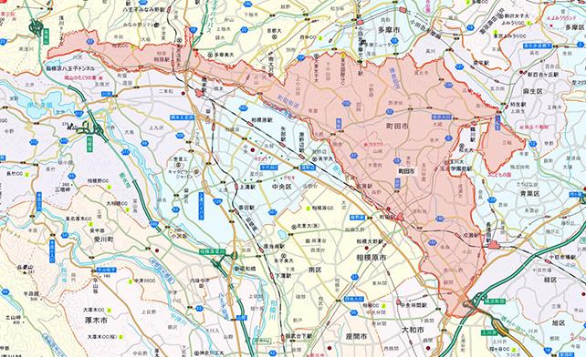 東京都町田市地図