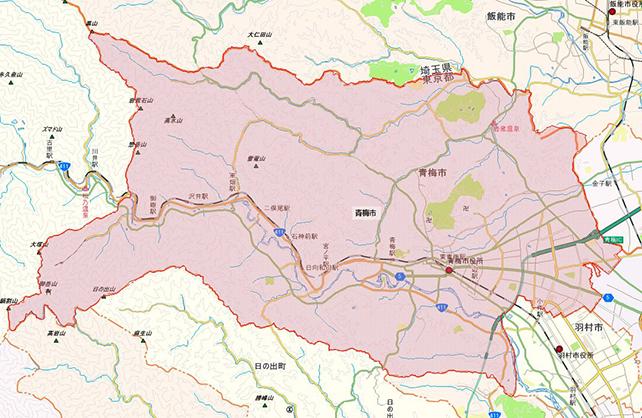 東京都青梅市地図