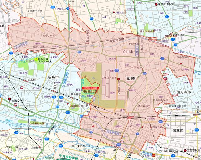 東京都立川市地図