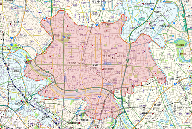 東京都足立区地図