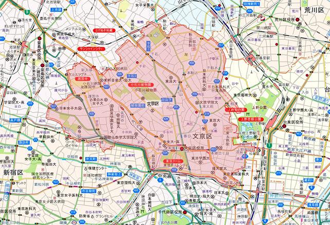 東京都文京区地図