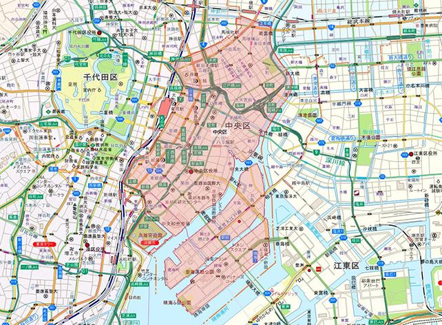 東京都中央区地図