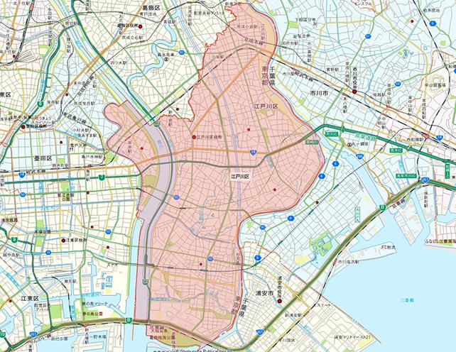 東京都江戸川区地図