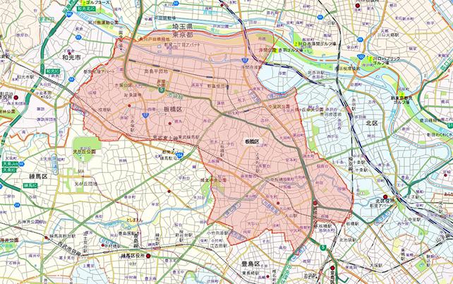 東京都板橋区地図
