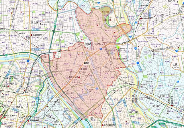 東京都葛飾区地図