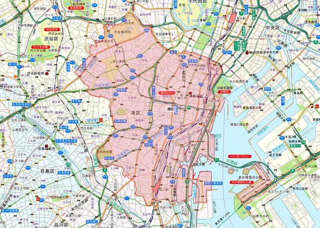 東京都港区地図