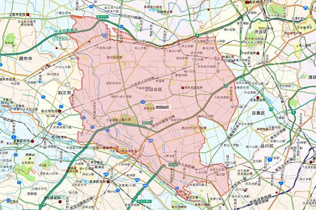 東京都世田谷区地図