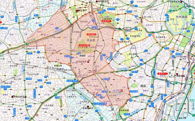 東京都渋谷区地図