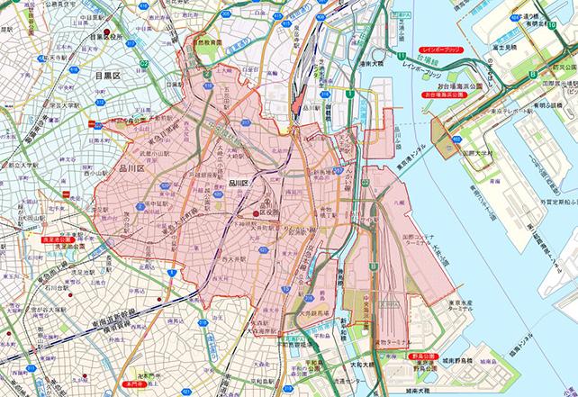 東京都品川区地図