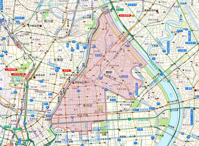 東京都墨田区地図