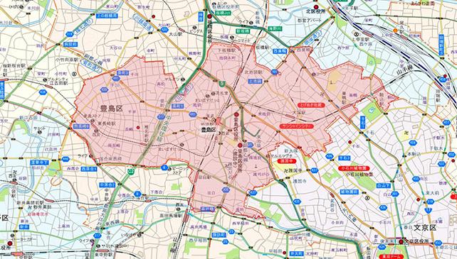東京都豊島区地図